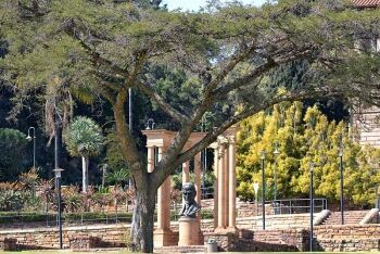 Bust of Field Marshal J.C Smuts in the gardens at the Union Buildings, Pretoria, Tshwane, Gauteng