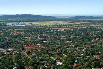 Wonderboom suburb and Wonderboom Airport, northern Pretoria, Gauteng