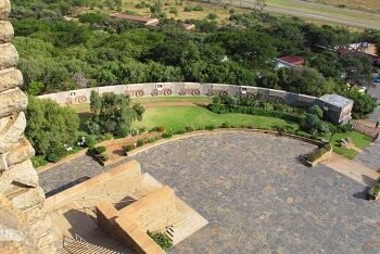 Wagon laager wall  features 64 wagons, Voortrekker Monument, Pretoria, Tshawane, Gauteng