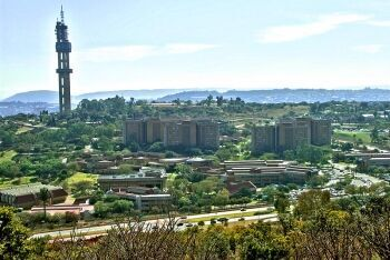 University of Pretoria, Groenkloof Campus, view from Klapperkop, Tshwane, Gauteng